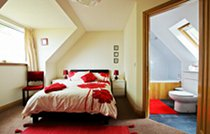 Red Skye double bedroom with ensuite bathroom